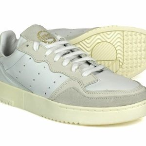 NIB Adidas Originals Supercourt Men's Leather Shoes White/chalk mens 13 EE6024